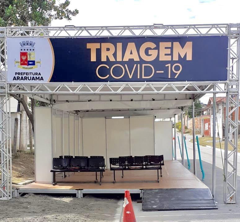 Prefeitura de Araruama monta Centro de Triagem para identificar suspeitos do Covid-19