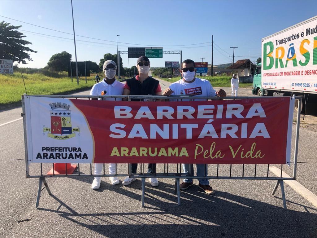 Prefeitura de Araruama instala Barreiras Sanitárias em pontos de acesso à cidade
