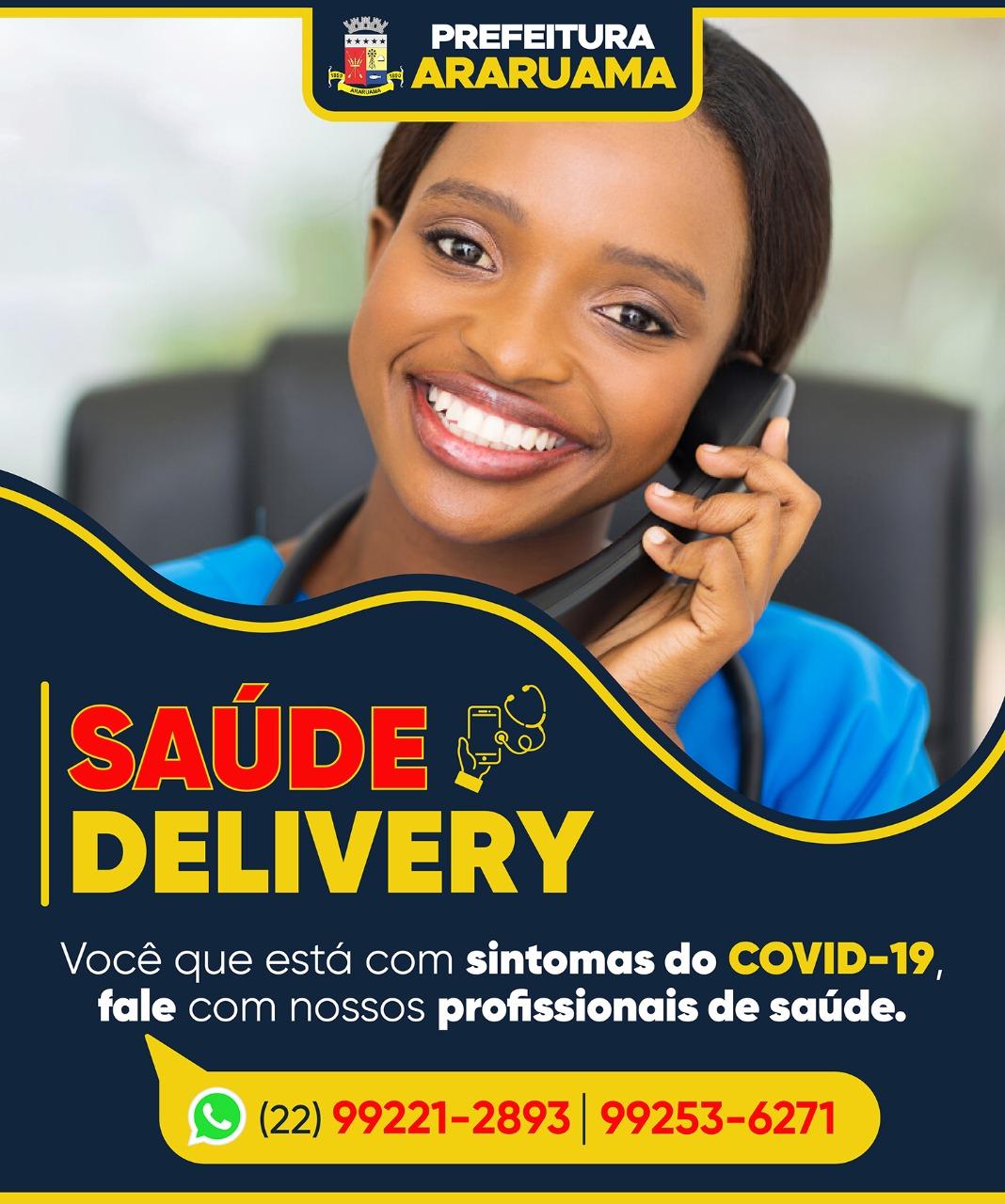 Prefeitura de Araruama lança projeto Saúde Delivery para ajudar identificar casos suspeitos de Covid-19