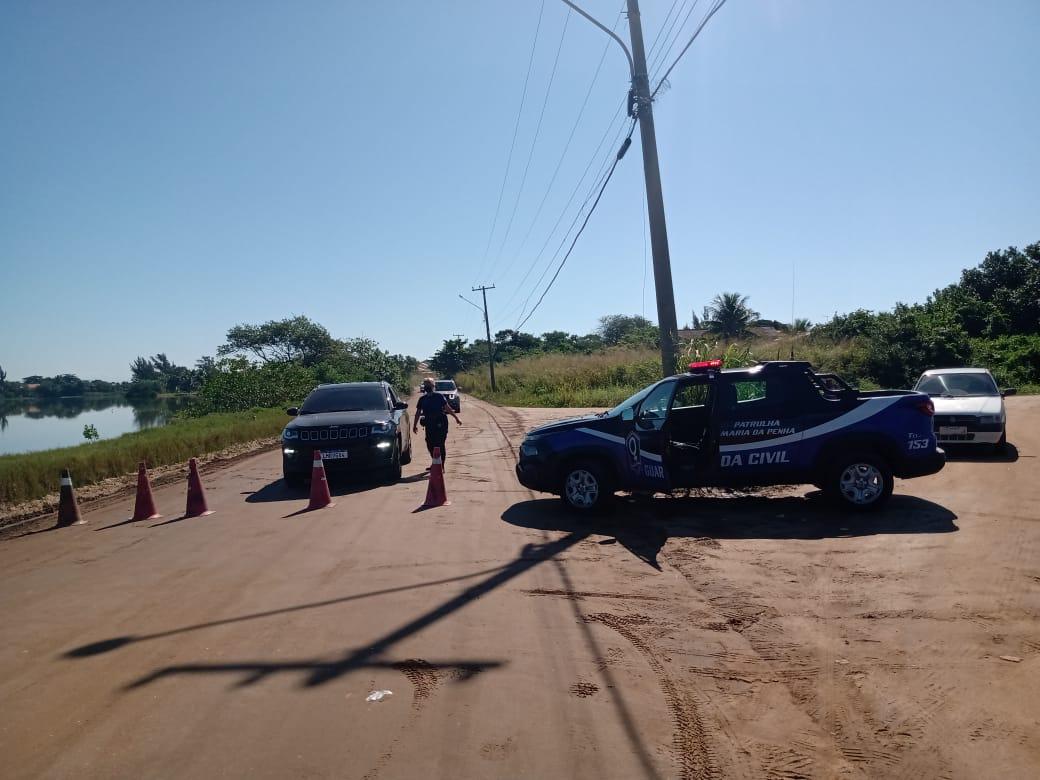 Prefeitura de Araruama monta bloqueios para evitar movimentação nas praias da cidade