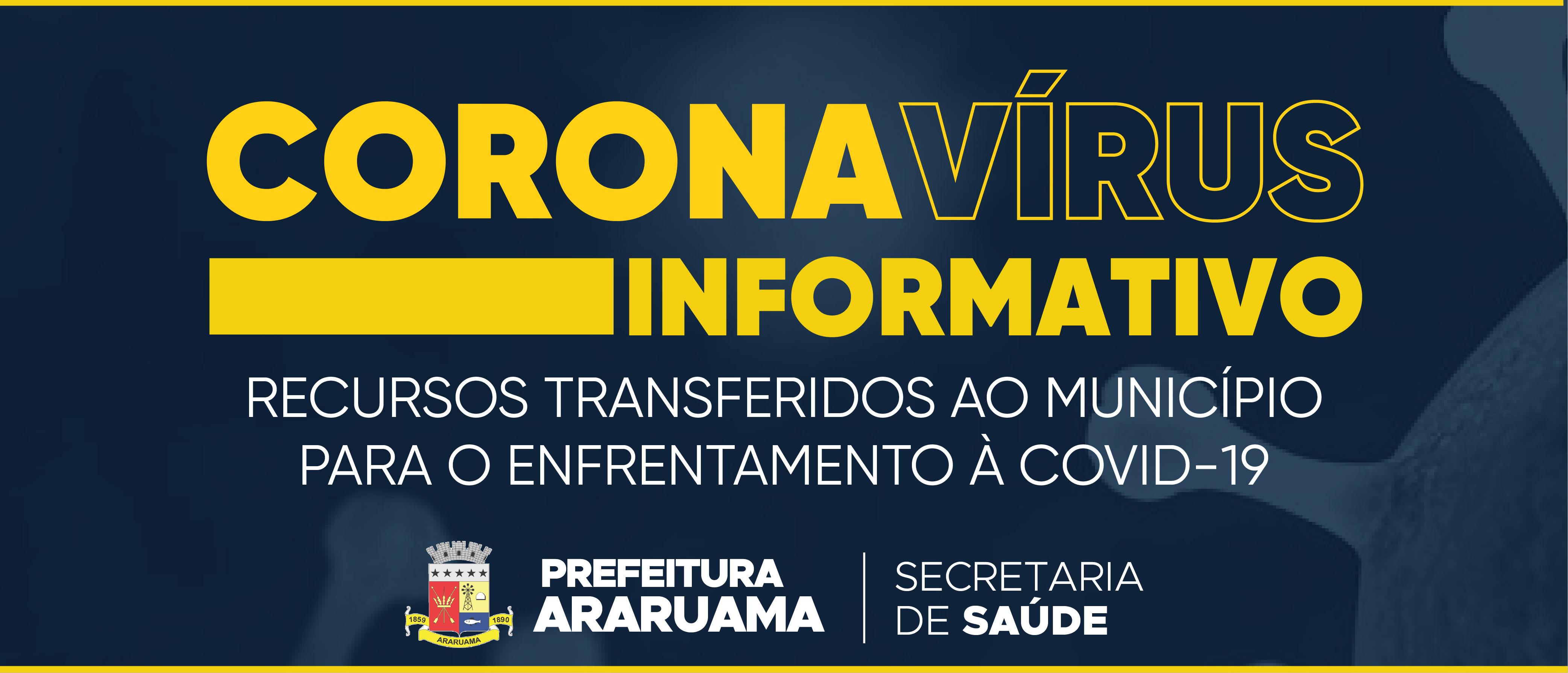 Prefeitura de Araruama divulga informações sobre os repasses de recursos federais e estaduais ao município para o enfrentamento à COVID-19