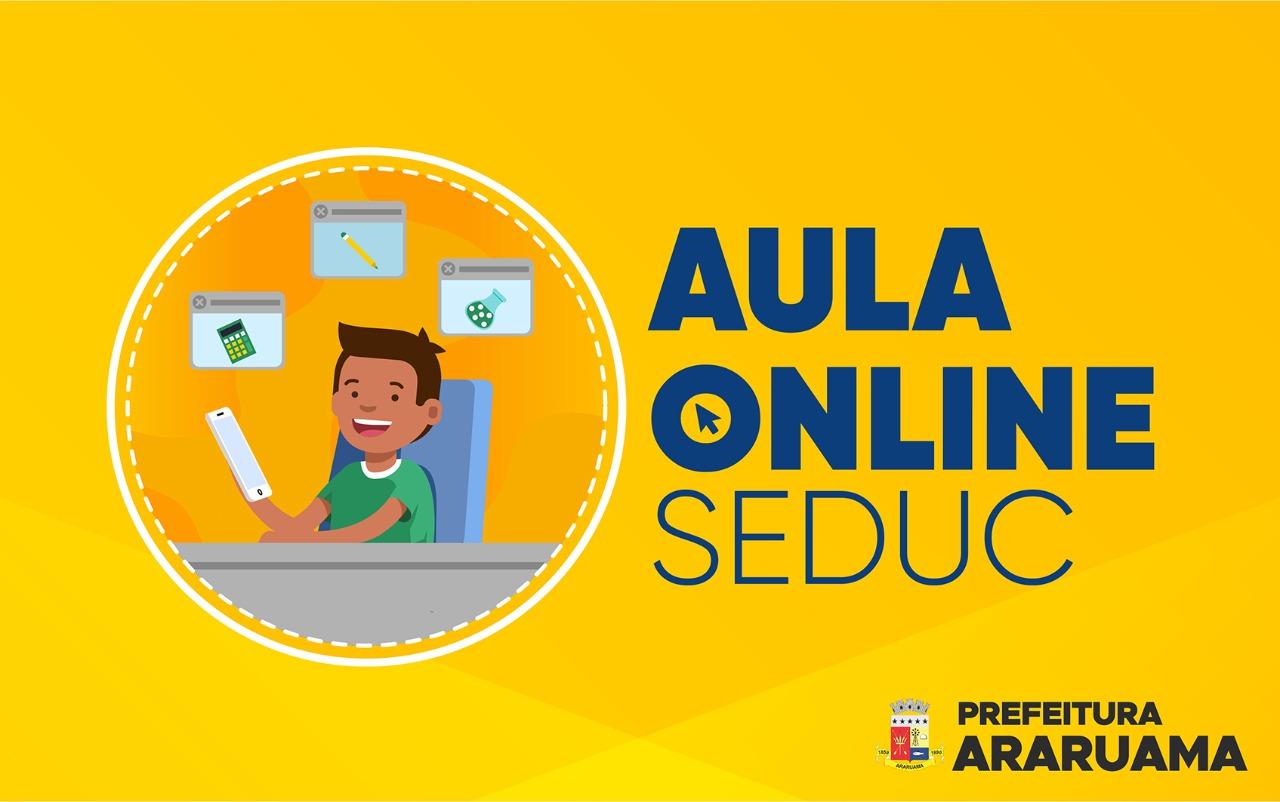 """Prefeitura de Araruama lança projeto """"Aula On Line"""" para alunos da Rede Municipal"""