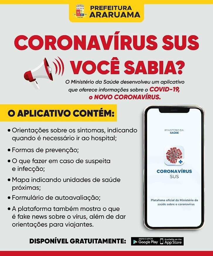 Ministério da Saúde cria aplicativo para informar sobre o COVID-19 (NOVO CORONAVÍRUS)