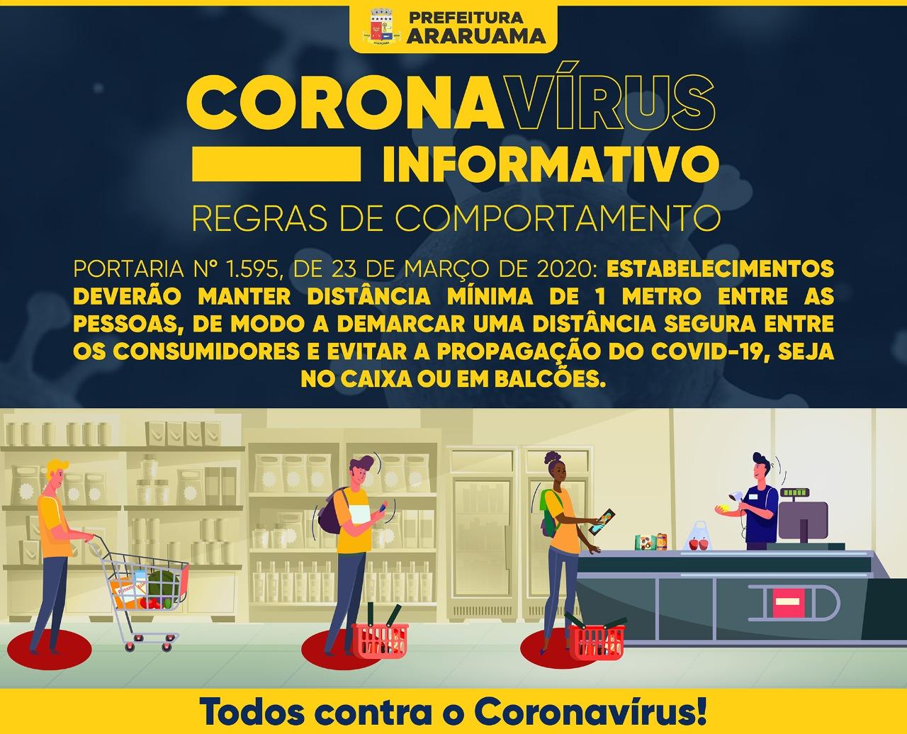 Prefeitura de Araruama continua ações preventivas contra COVID-19