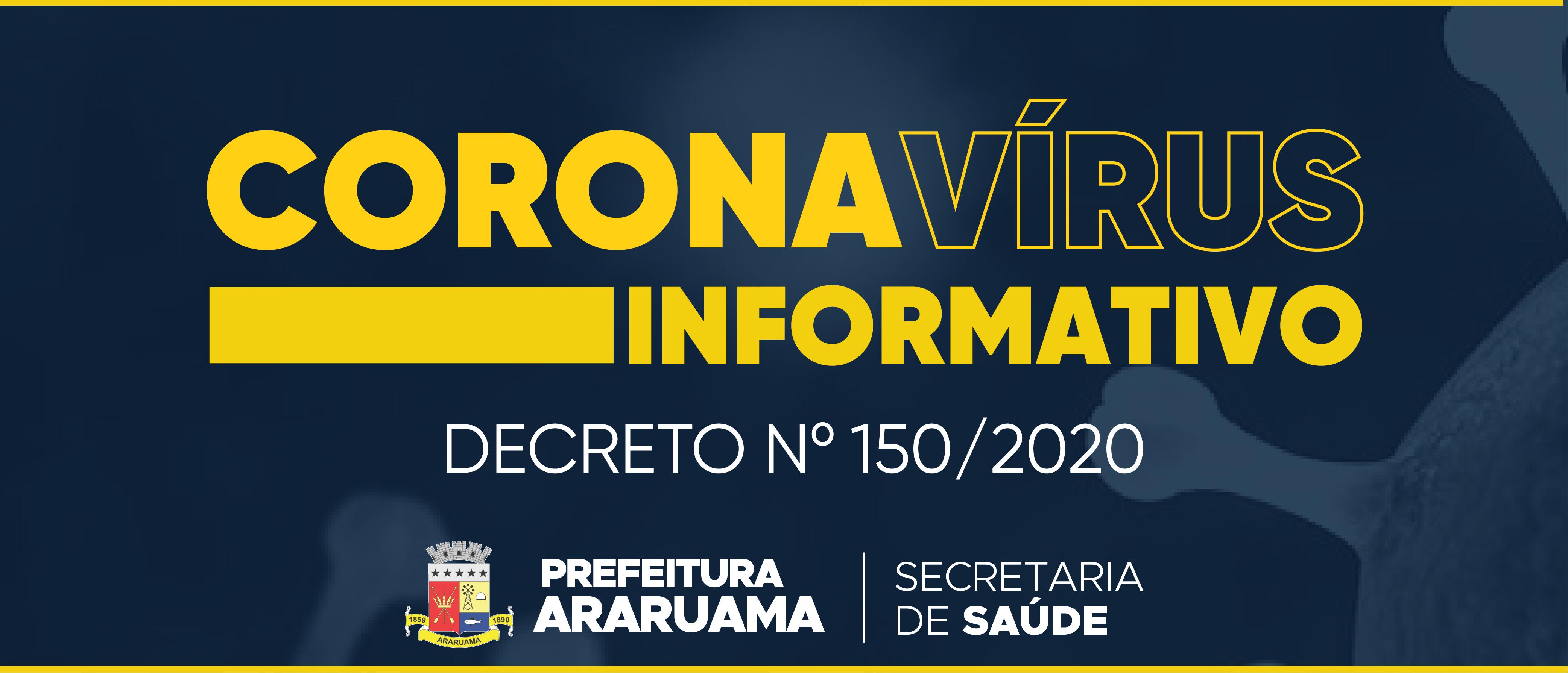 Prefeitura de Araruama publica decreto que trata da prevenção ao Coronavírus
