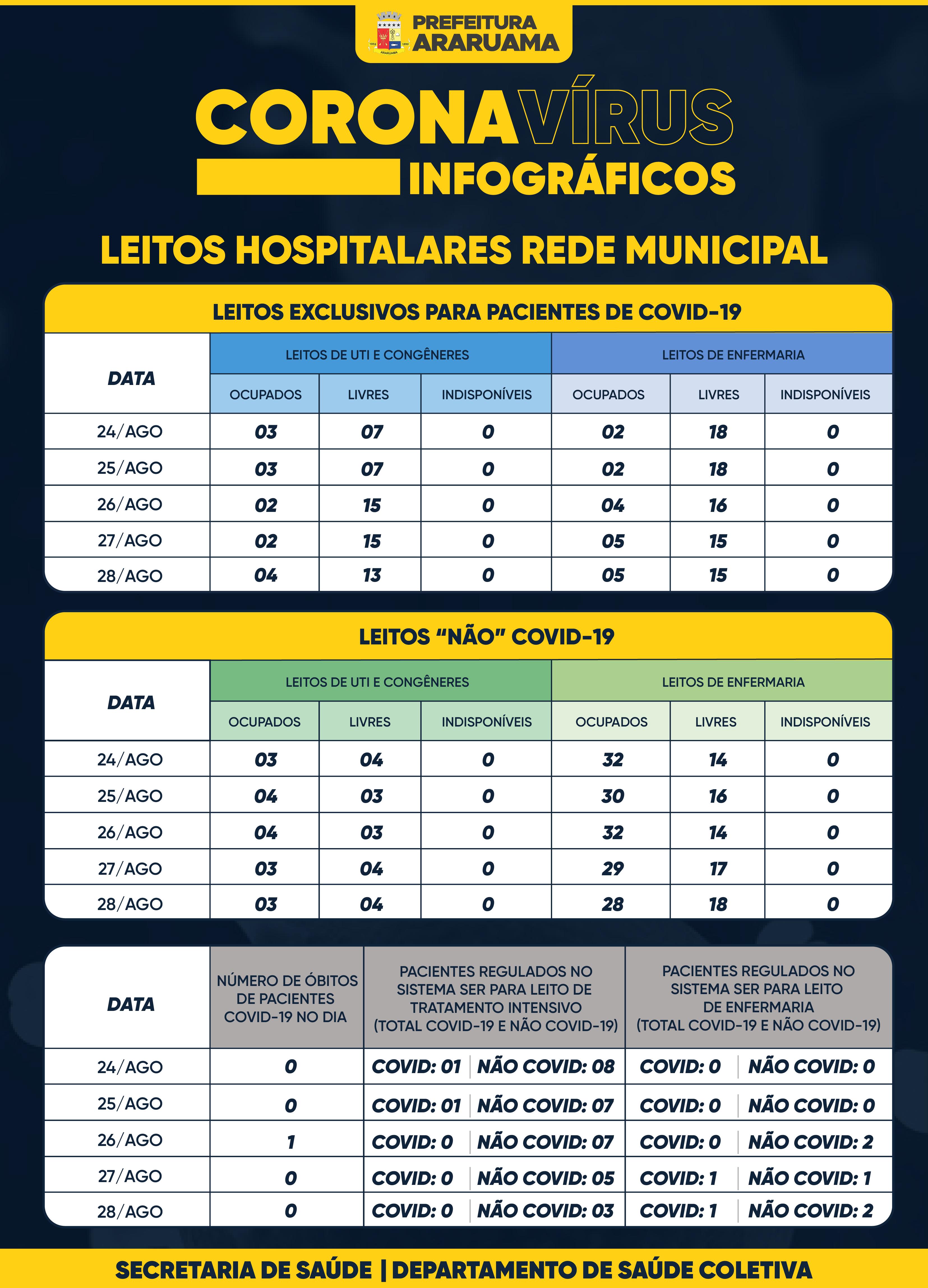 Painel de Monitoramento de Leitos COVID-19 — 28 de agosto de 2020