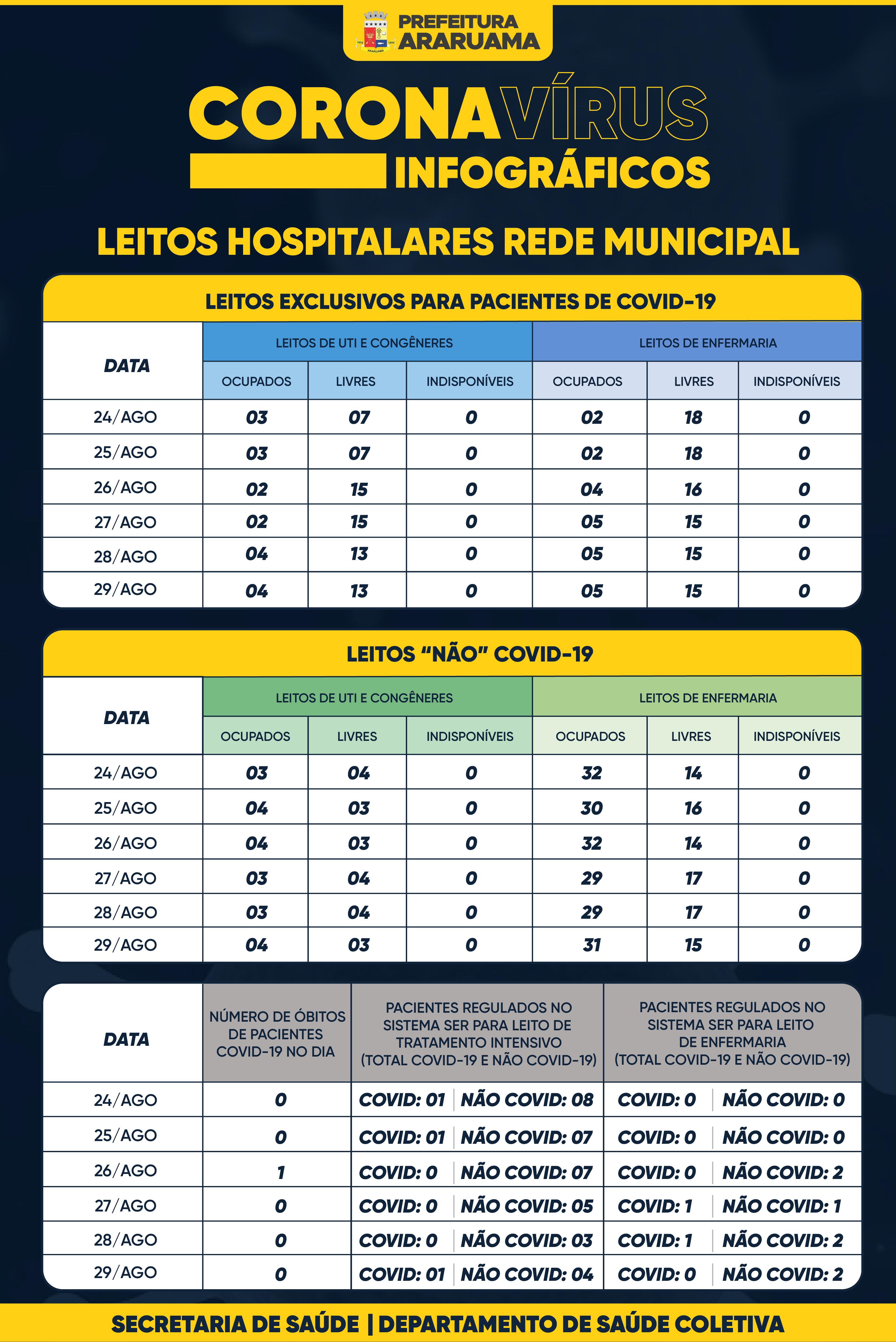 Painel de Monitoramento de Leitos COVID-19 — 29 de agosto de 2020