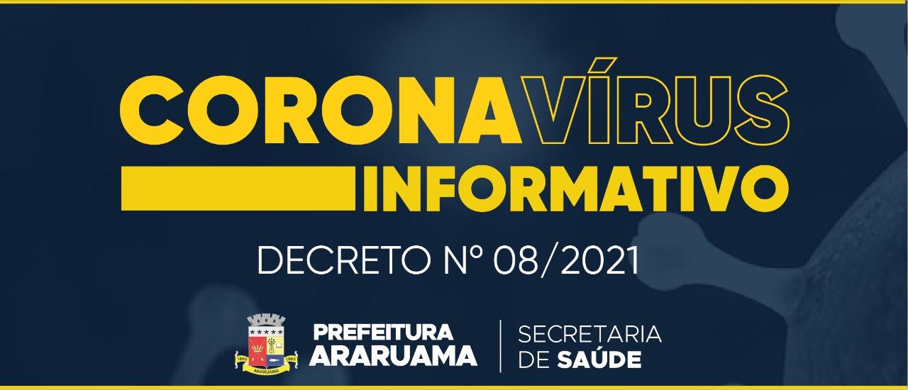 Prefeitura de Araruama publica decreto que trata da flexibilização parcial de atividades econômicas no município e retorno às aulas nas Redes Pública e Privada de Ensino