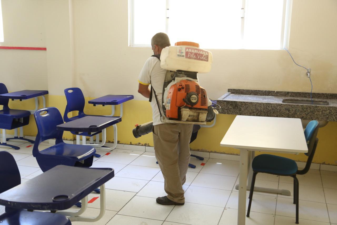 Prefeitura de Araruama prepara Escolas Municipais com protocolo de higienização para retorno das aulas