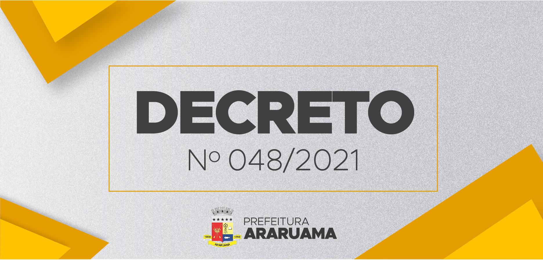 Prefeitura de Araruama publica Decreto 048/2021