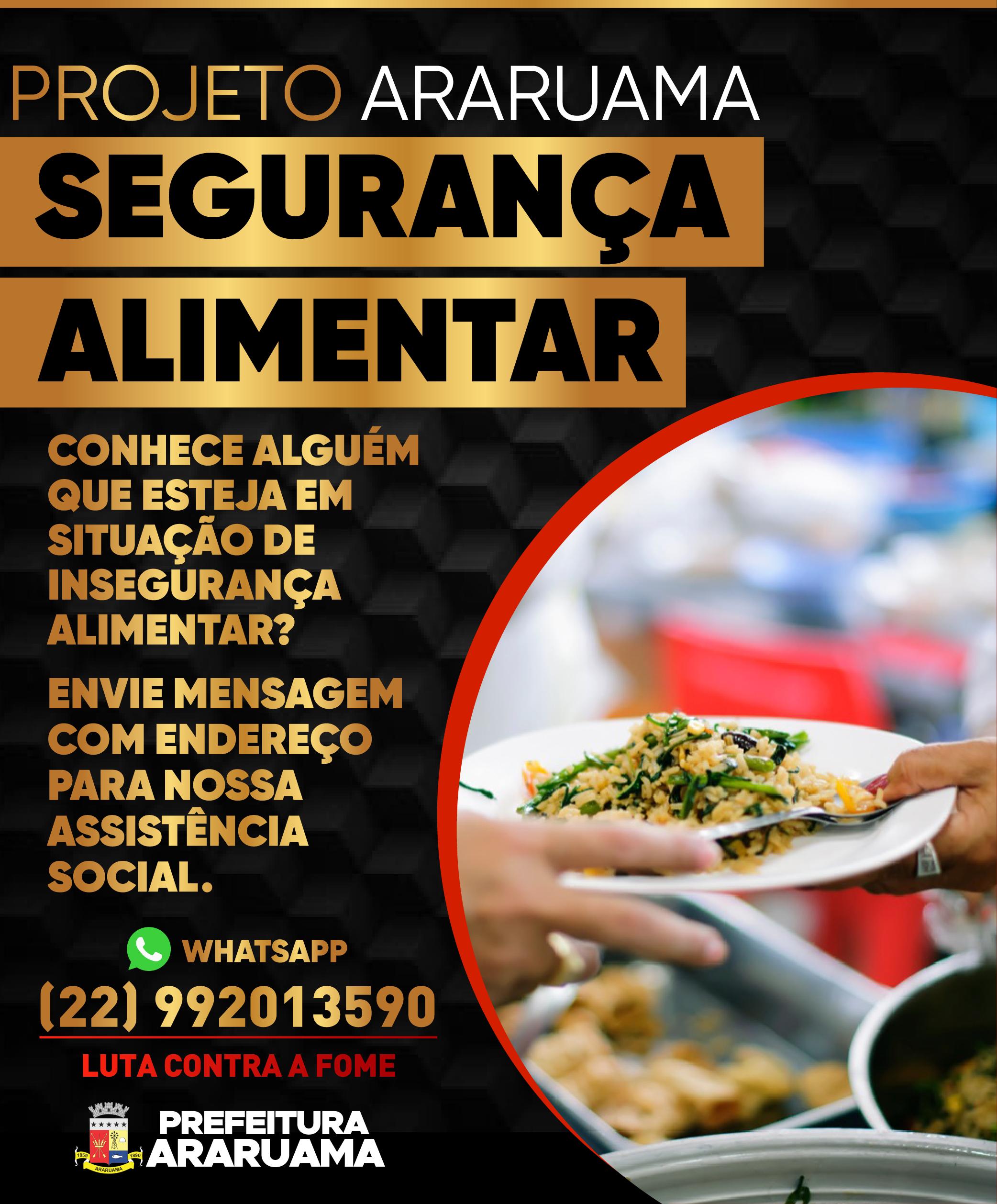 "Prefeitura lança ""Projeto Araruama Segurança Alimentar"""