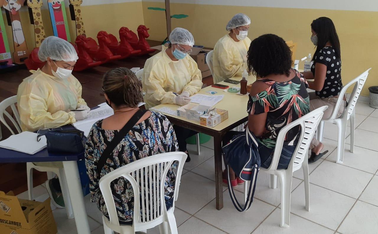 Prefeitura de Araruama realiza mais uma testagem em massa da Covid-19 em profissionais da Rede Pública Municipal