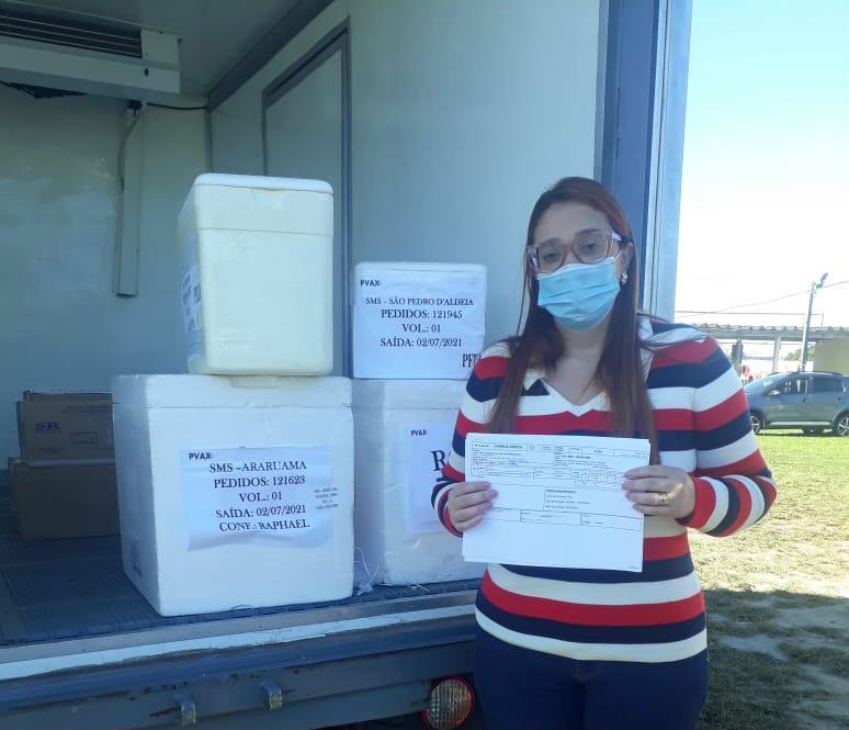 Prefeitura de Araruama recebe novos lotes de vacinas nessa sexta-feira, 02